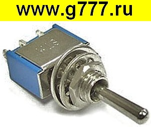 Тумблер Микротумблер STM-123 (on)-off-(on)