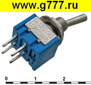 Тумблер Микротумблер MTS-201-A2 on-off