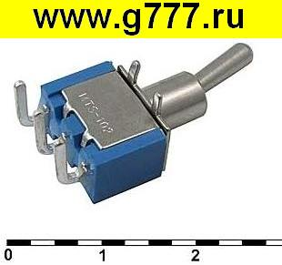 Тумблер Микротумблер MTS-103-C3-1 on-off-on