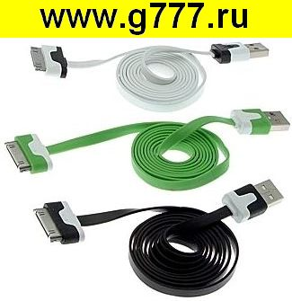 iPhone шнур USB to iPhone 4 flat 1m