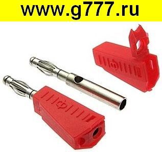 Разъём Банан Разъём Банан ZP-040 4mm Stackable Plug RED