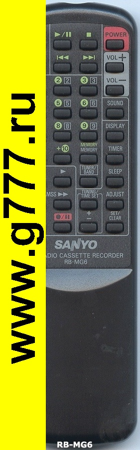 Пульты Пульт Sanyo RB-MG6 оригинал